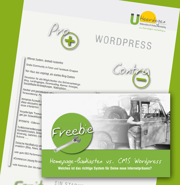 Checkliste Homepage-Baukasten oder WordPress CMS