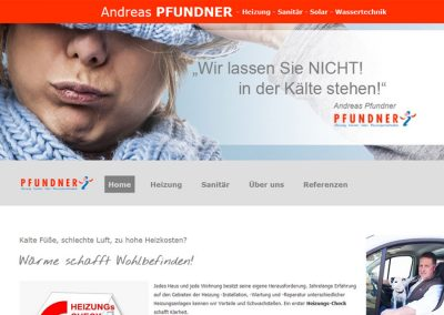 Homepage Sanitär Pfundner